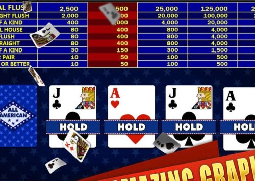 Go for a Straight Flush Playing All American Video Poker